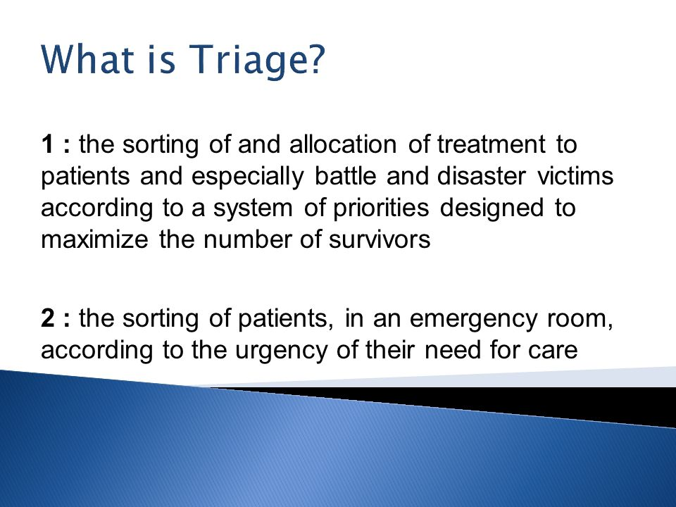 What is Triage