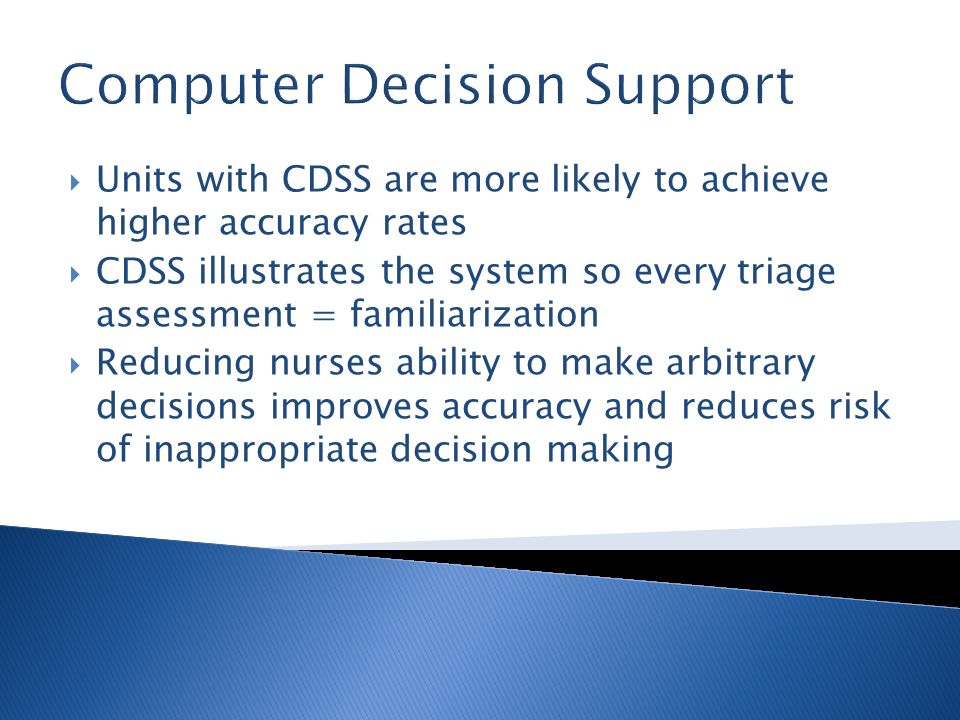 Computer Decision Support