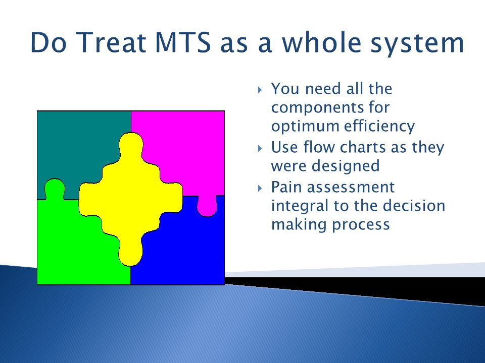 Do Treat MTS as a whole system