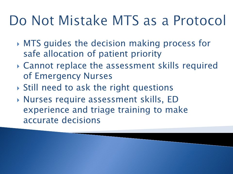 Do Not Mistake MTS as a Protocol