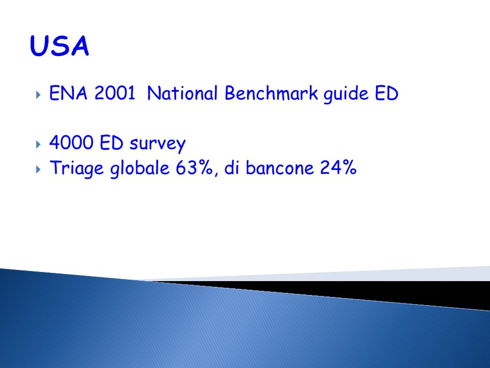 USA ENA 2001 National Benchmark guide ED 4000 ED survey