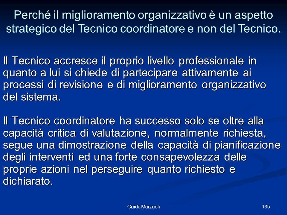 Perché il miglioramento organizzativo è un aspetto strategico del Tecnico coordinatore e non del Tecnico.