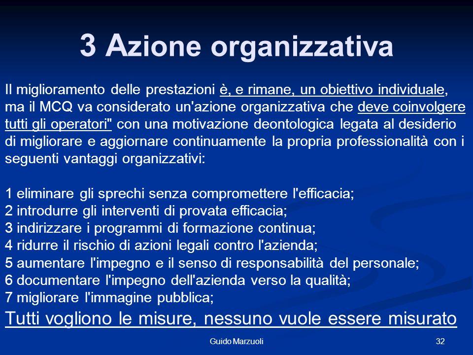 3 Azione organizzativa