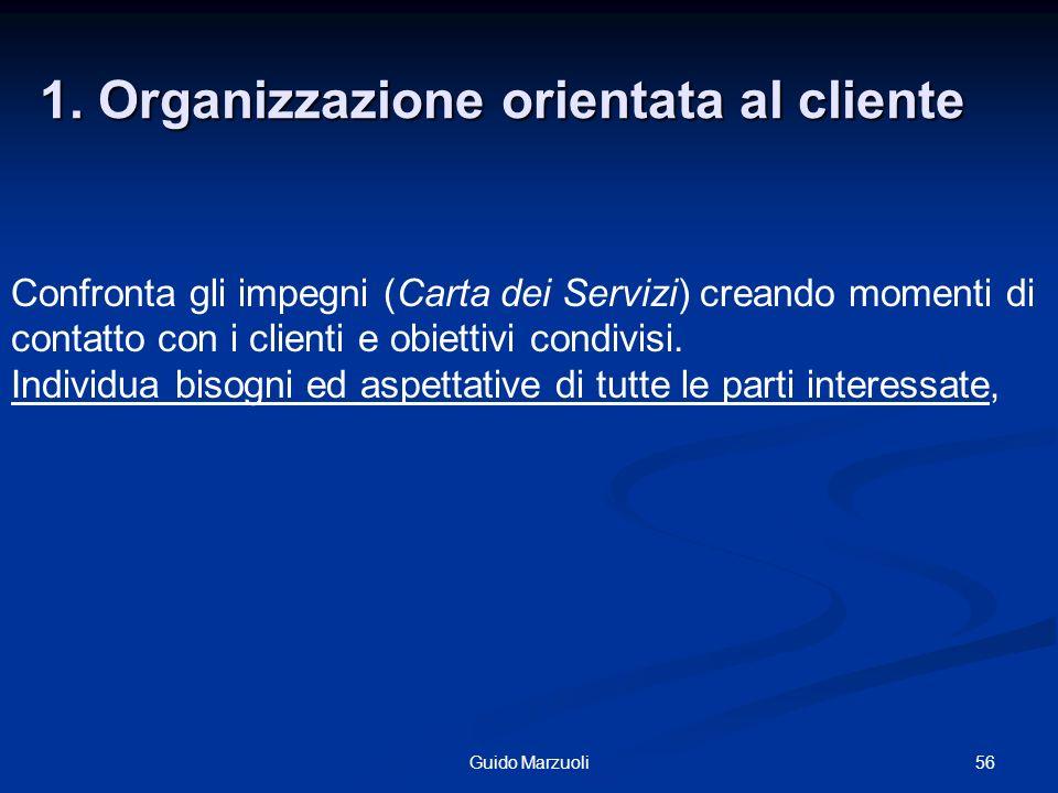 1. Organizzazione orientata al cliente