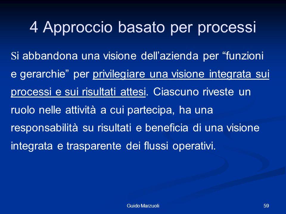 4 Approccio basato per processi
