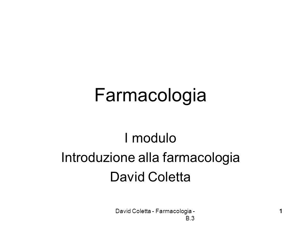 Introduzione alla farmacologia
