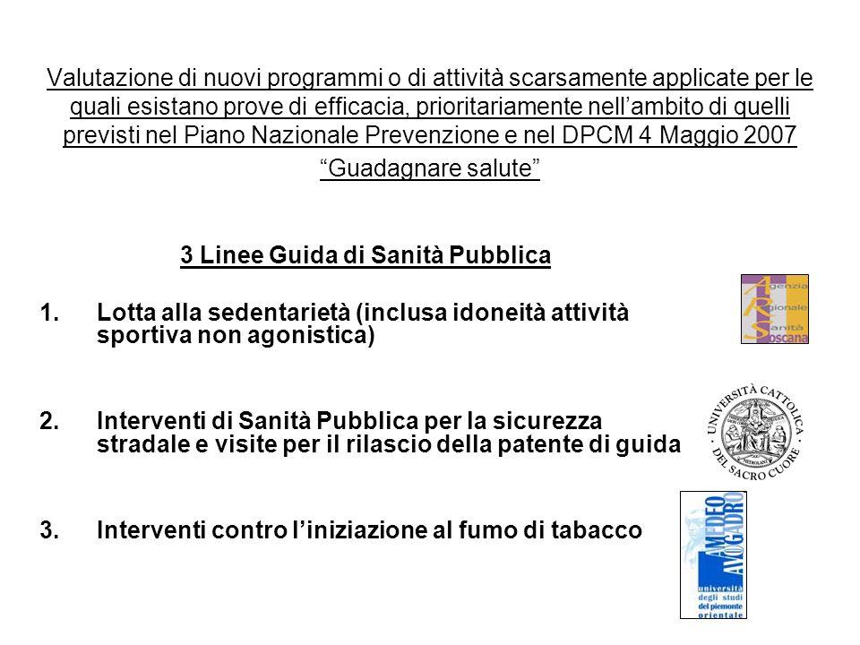 3 Linee Guida di Sanità Pubblica