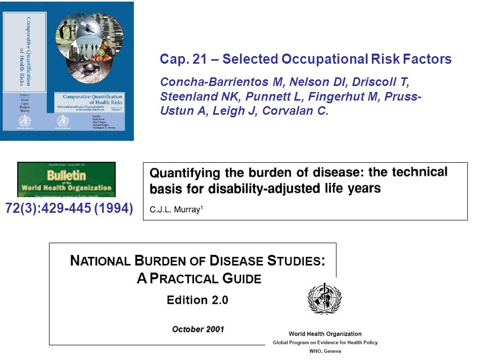 Cap. 21 – Selected Occupational Risk Factors