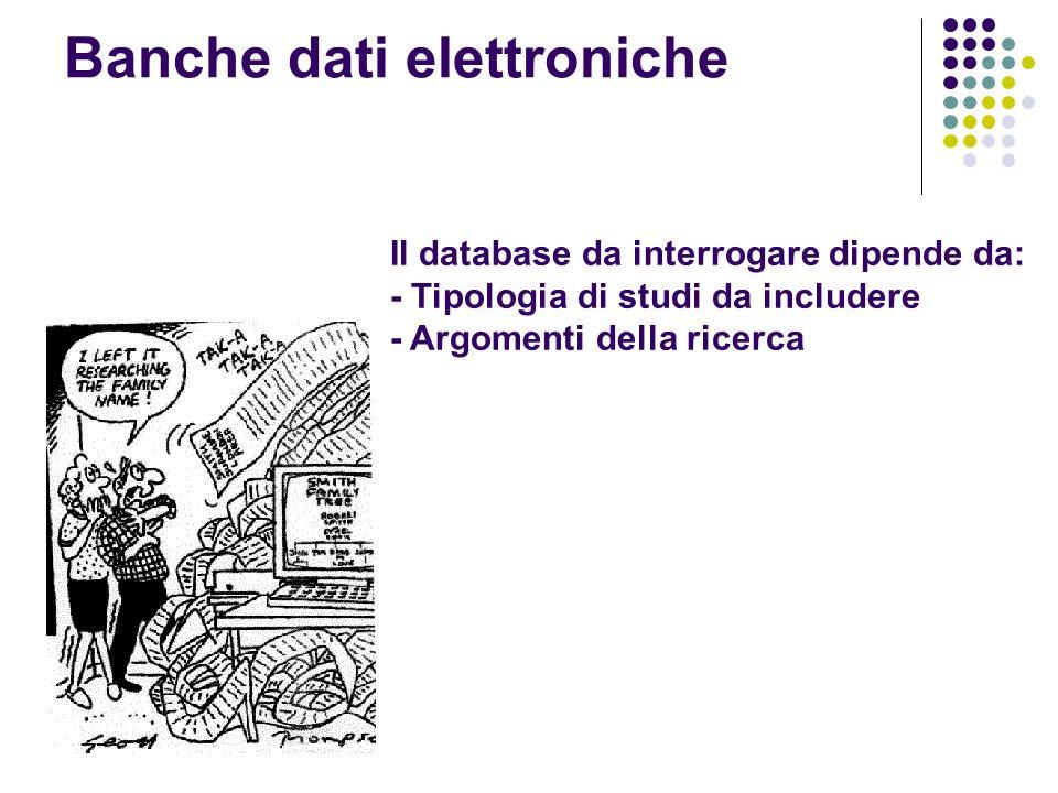 Banche dati elettroniche