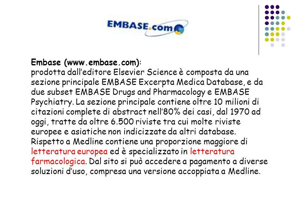 Embase (www.embase.com):