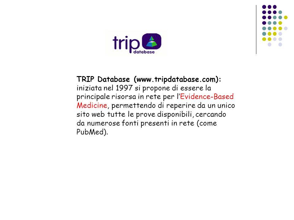 TRIP Database (www. tripdatabase