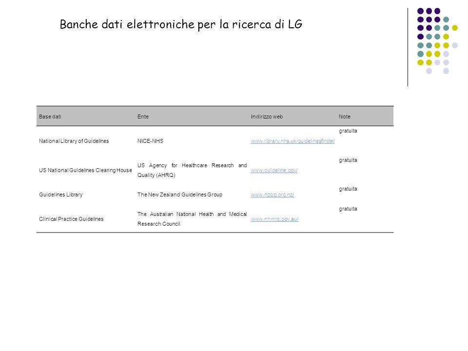 Banche dati elettroniche per la ricerca di LG