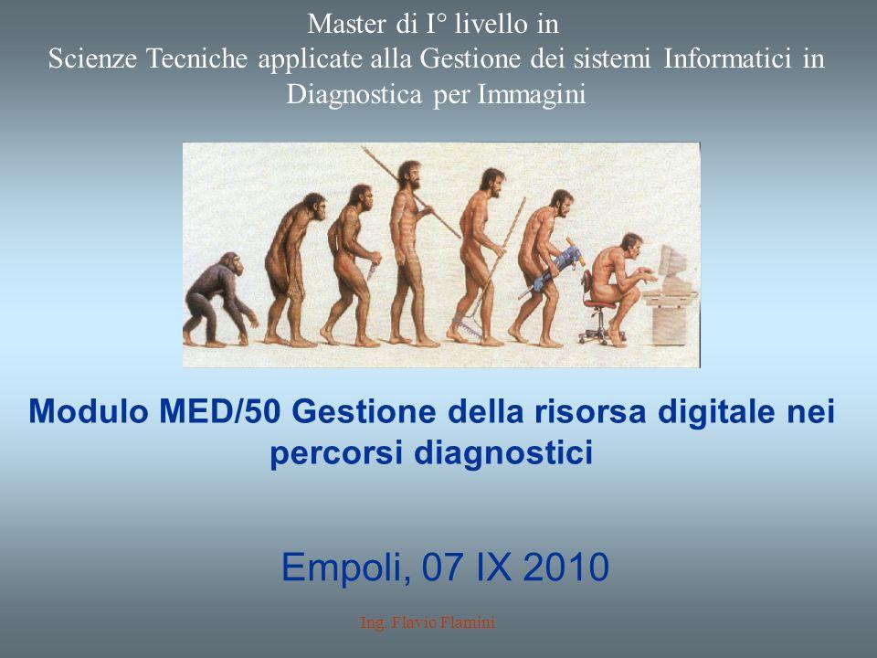 Modulo MED/50 Gestione della risorsa digitale nei percorsi diagnostici