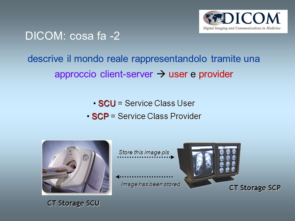 SERVICES = DIMSE (Dicom Services Message Elements)