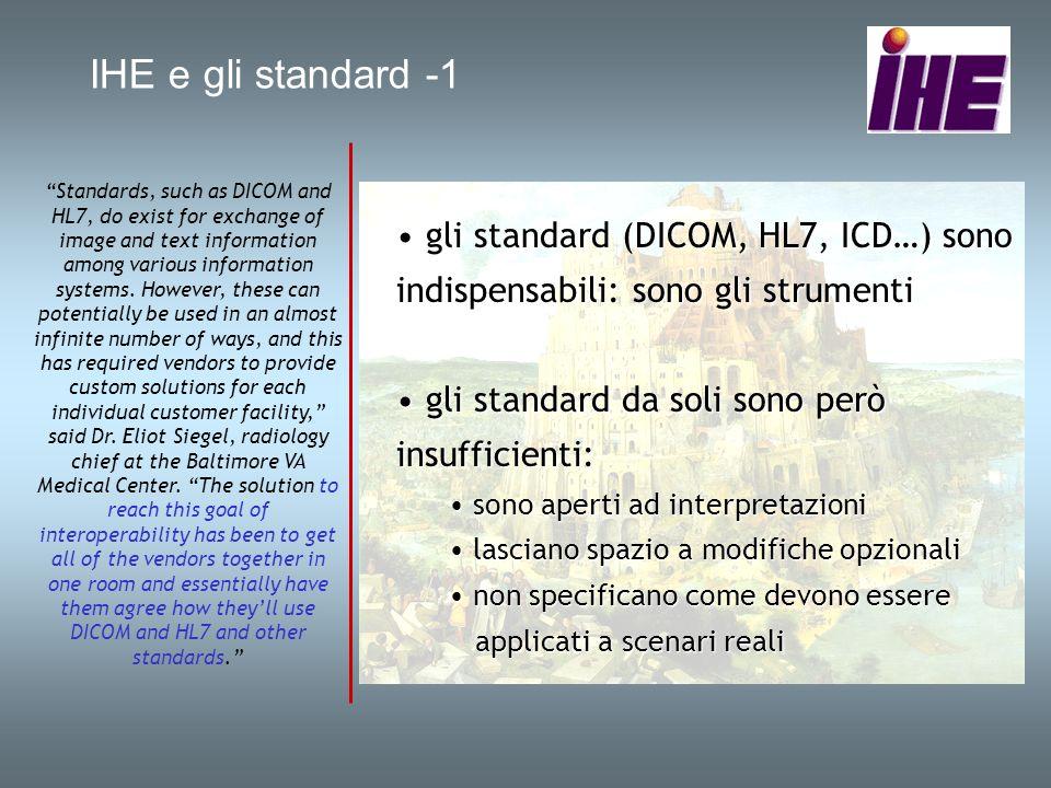 IHE e gli standard -1