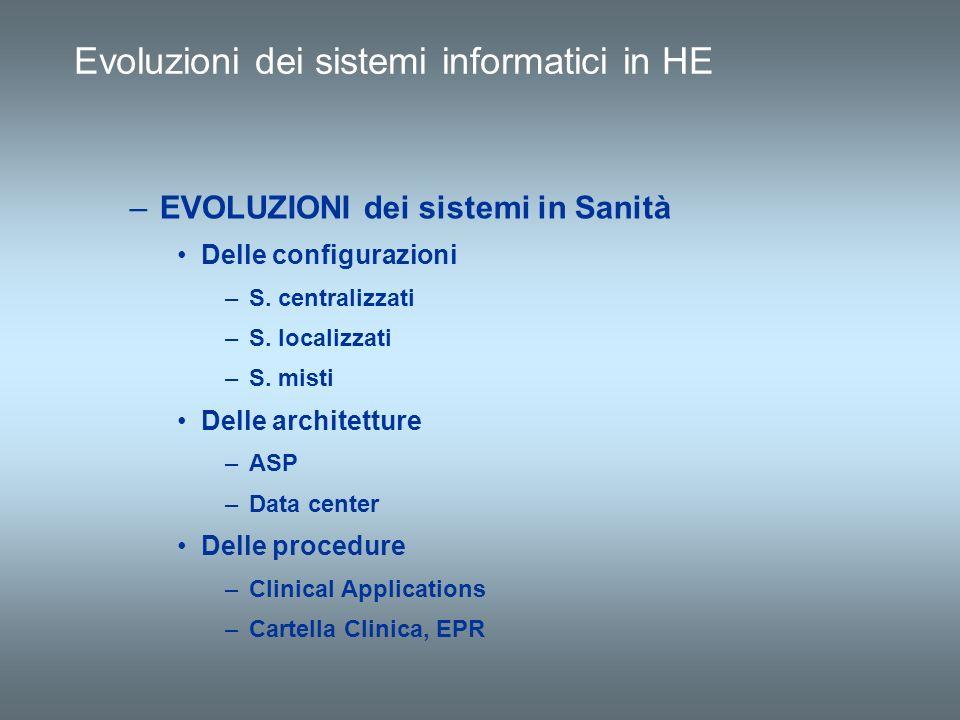 Evoluzioni dei sistemi informatici in HE
