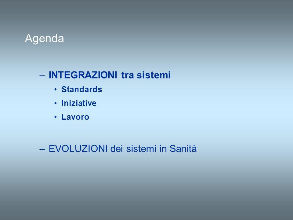 Agenda INTEGRAZIONI tra sistemi EVOLUZIONI dei sistemi in Sanità