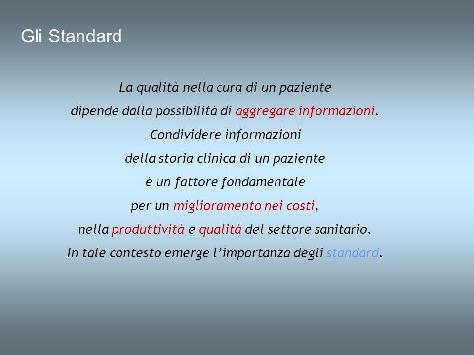 Gli Standard La qualità nella cura di un paziente