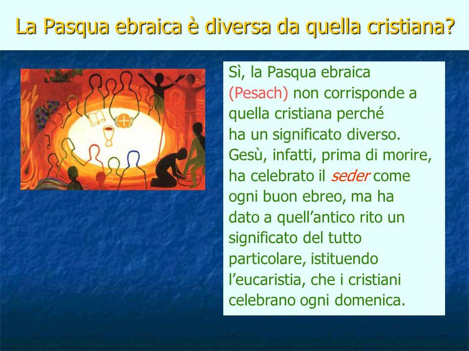 La Pasqua ebraica è diversa da quella cristiana