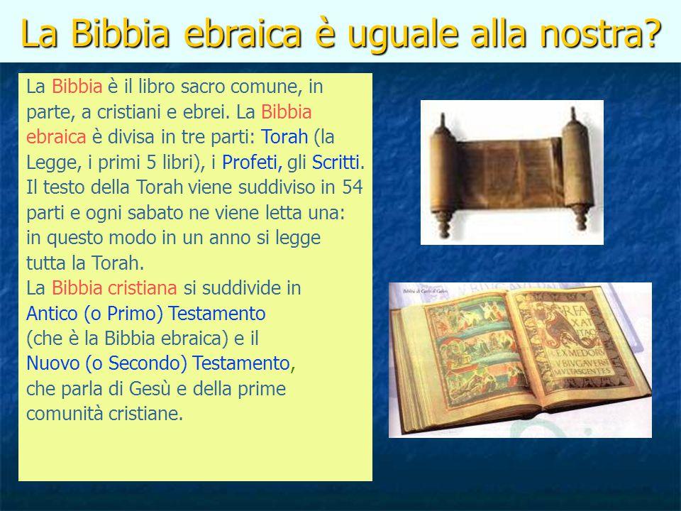 La Bibbia ebraica è uguale alla nostra