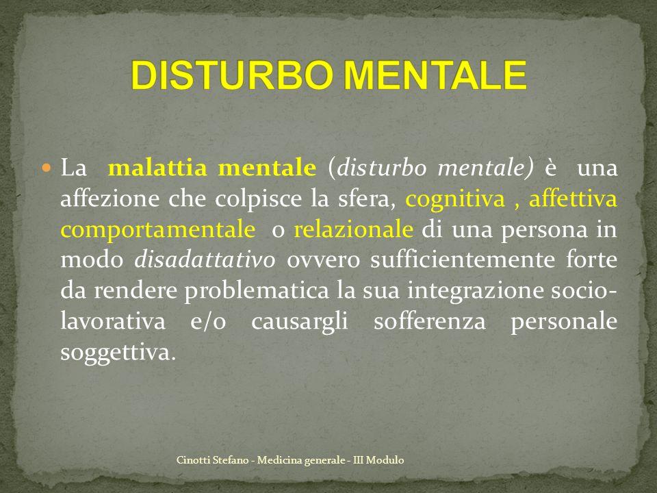 DISTURBO MENTALE