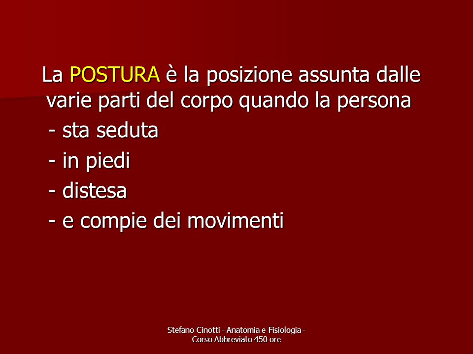 Stefano Cinotti - Anatomia e Fisiologia - Corso Abbreviato 450 ore