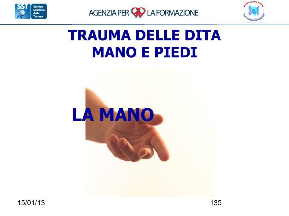 TRAUMA DELLE DITA MANO E PIEDI