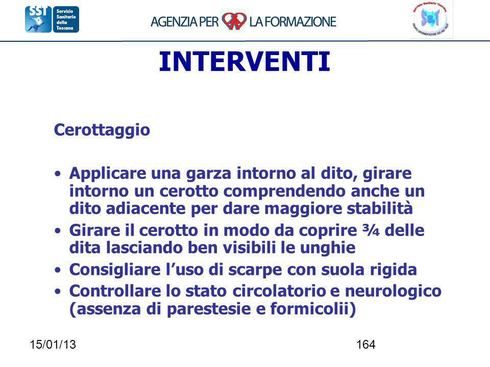 INTERVENTI Cerottaggio