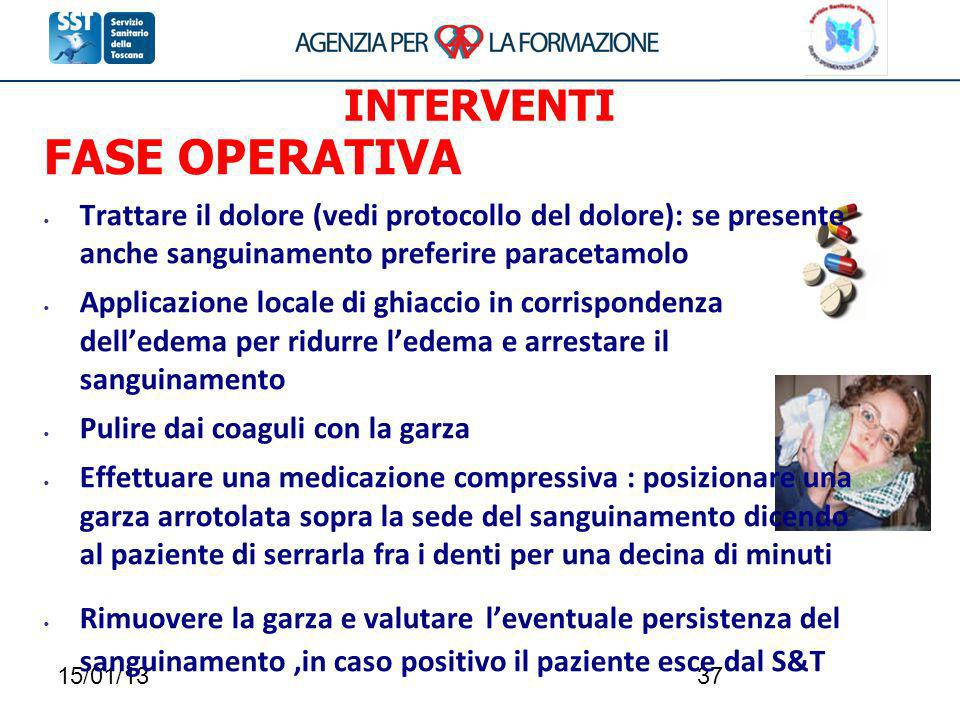 FASE OPERATIVA INTERVENTI