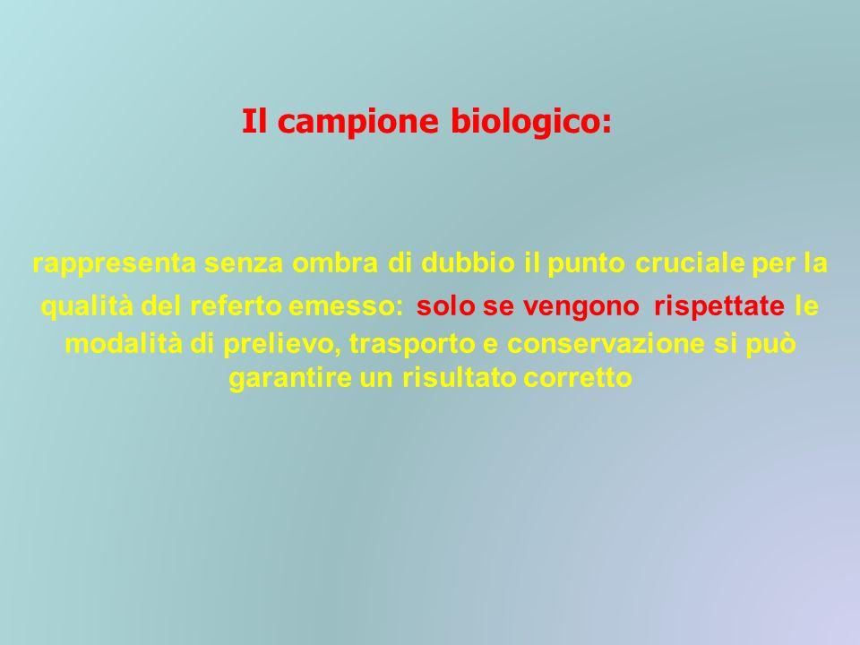 Il campione biologico: