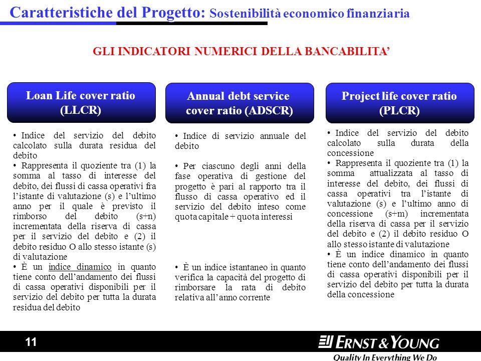 Caratteristiche del Progetto: Sostenibilità economico finanziaria