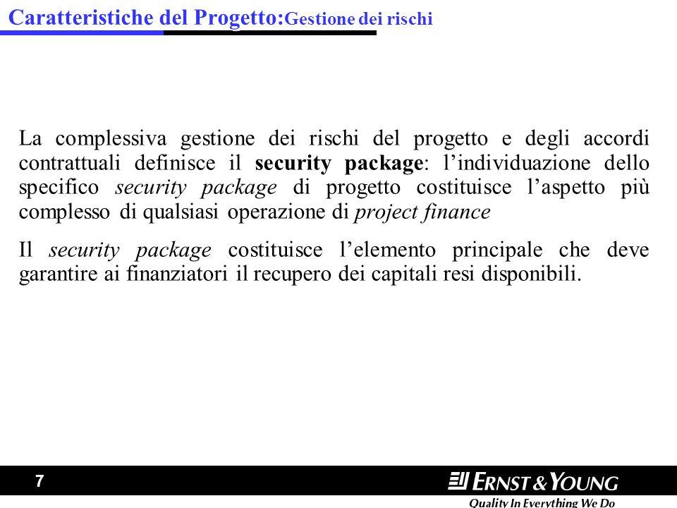 Caratteristiche del Progetto:Gestione dei rischi