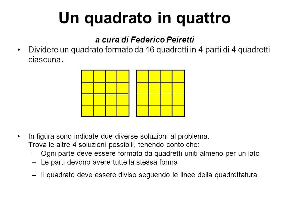 Un quadrato in quattro a cura di Federico Peiretti
