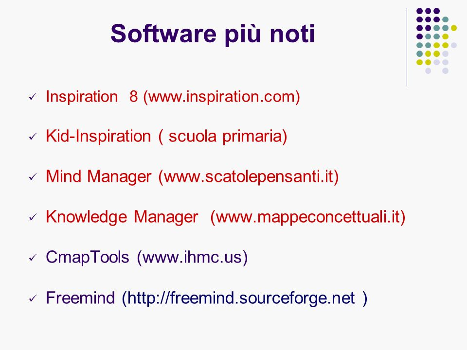 Software più noti Kid-Inspiration ( scuola primaria)