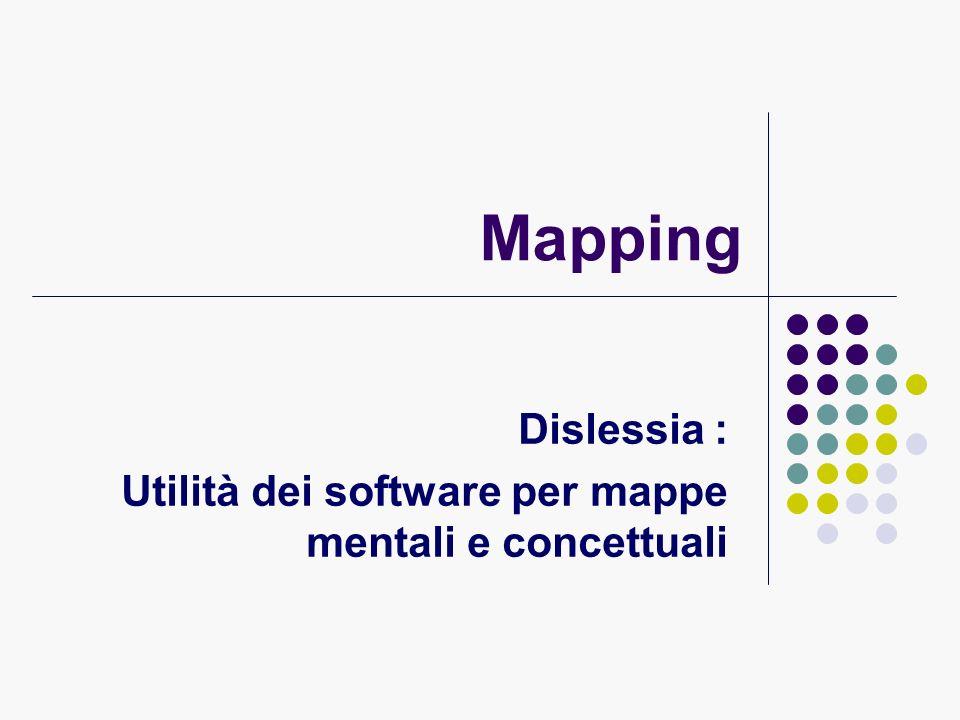 Dislessia : Utilità dei software per mappe mentali e concettuali
