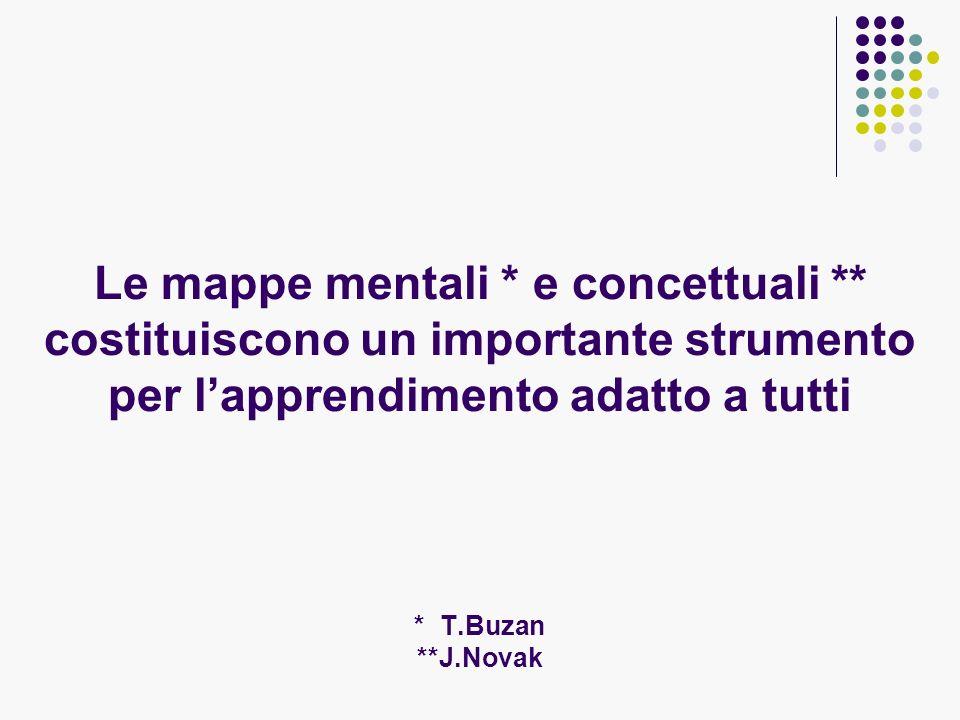 Le mappe mentali. e concettuali