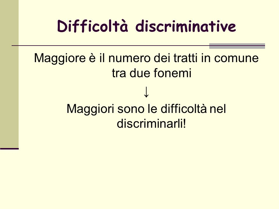 Difficoltà discriminative