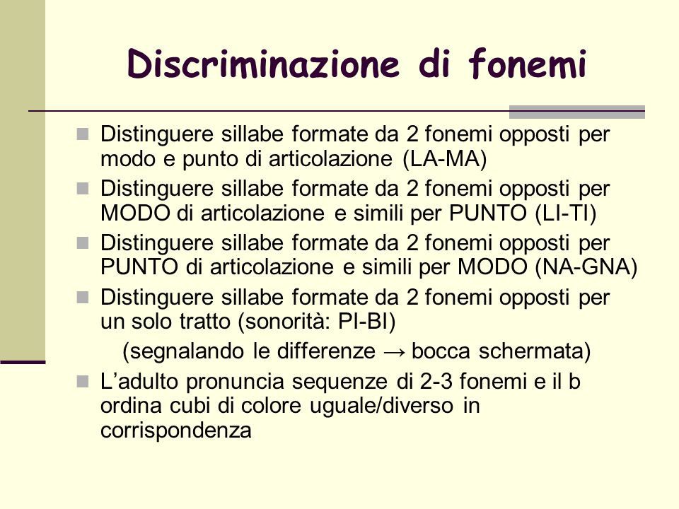 Discriminazione di fonemi