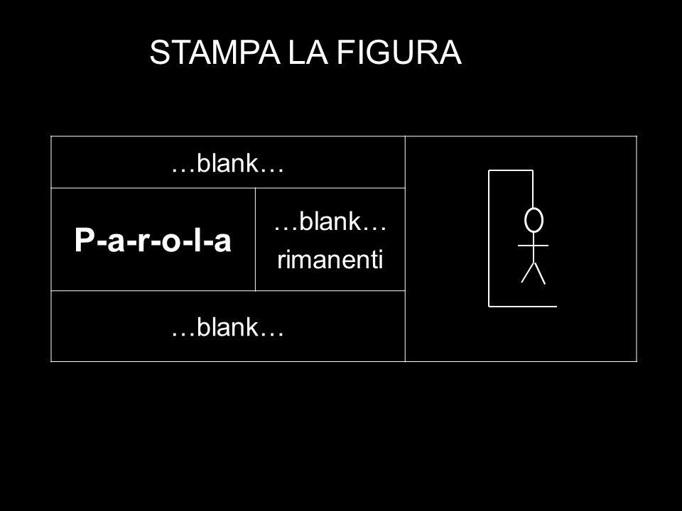 STAMPA LA FIGURA …blank… P-a-r-o-l-a rimanenti