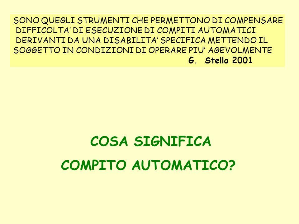 COSA SIGNIFICA COMPITO AUTOMATICO