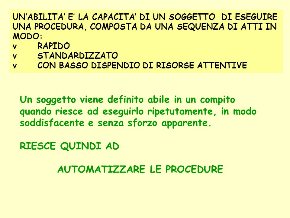 AUTOMATIZZARE LE PROCEDURE
