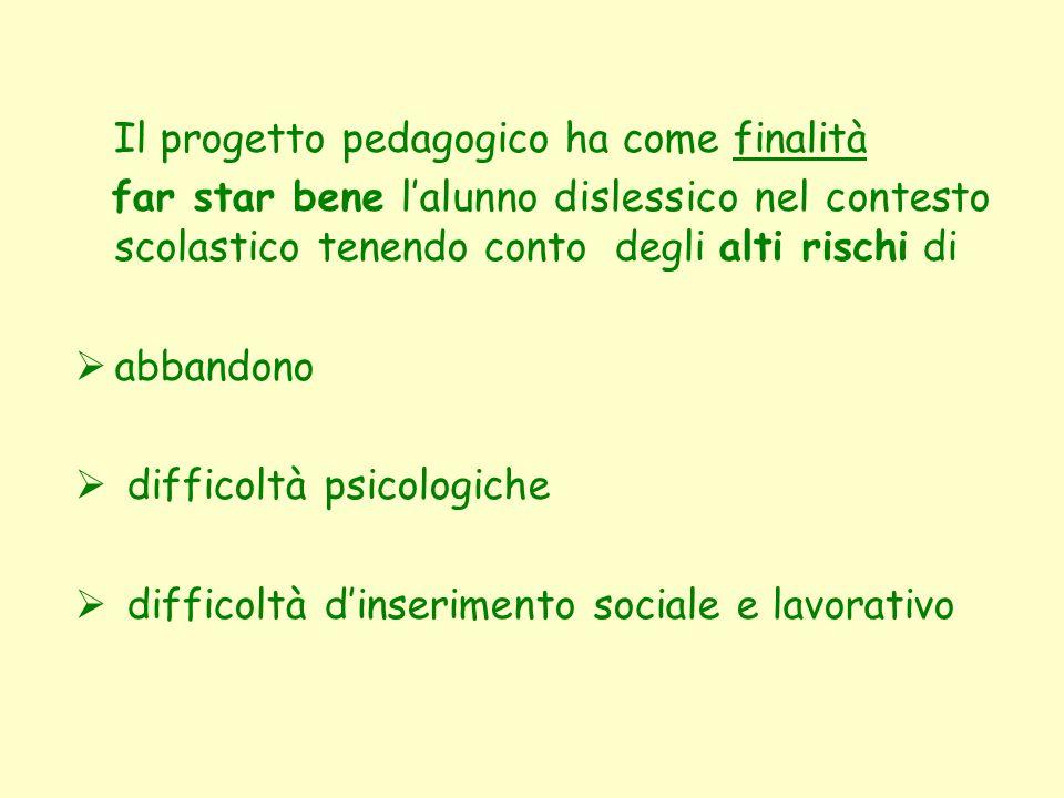 Il progetto pedagogico ha come finalità