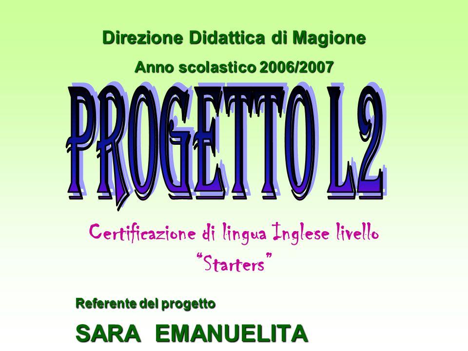 Certificazione di lingua Inglese livello Starters