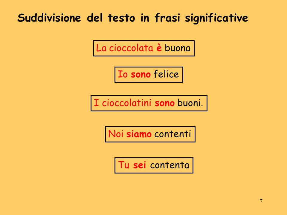 Suddivisione del testo in frasi significative