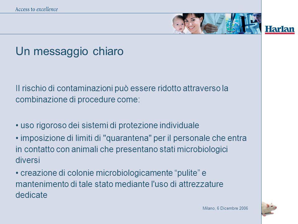 Un messaggio chiaro Il rischio di contaminazioni può essere ridotto attraverso la combinazione di procedure come:
