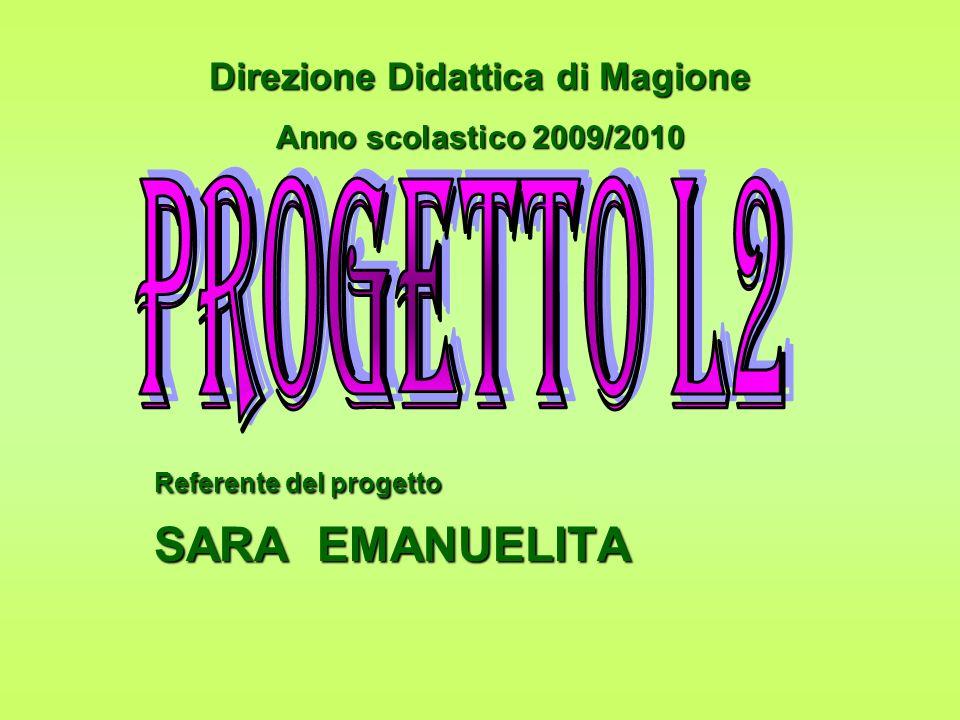 Referente del progetto SARA EMANUELITA