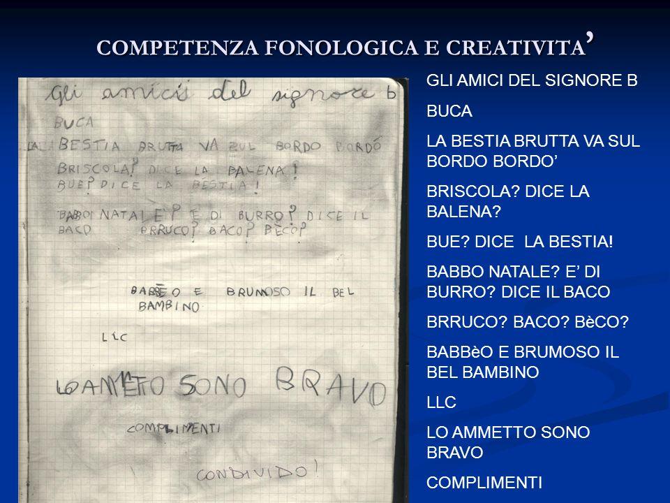 COMPETENZA FONOLOGICA E CREATIVITA'