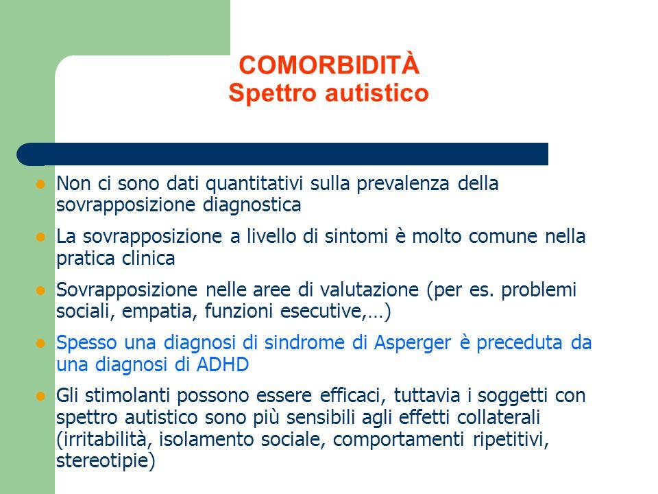 COMORBIDITÀ Spettro autistico