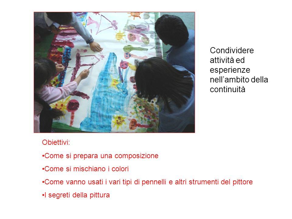 Condividere attività ed esperienze nell'ambito della continuità