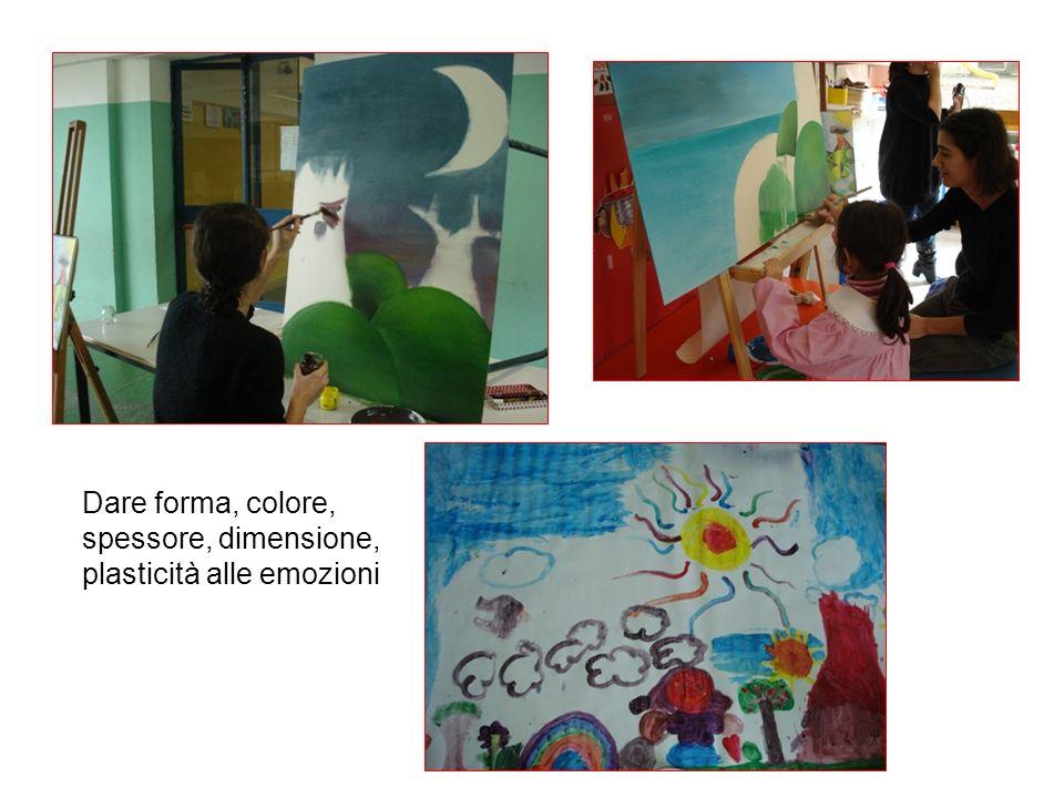 Dare forma, colore, spessore, dimensione, plasticità alle emozioni
